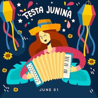 Diseño plano festa junina