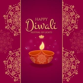 Diseño plano del festival de diwali