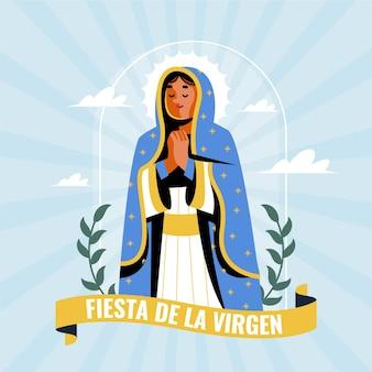 Diseño plano fiesta de la virgen