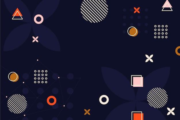 Diseño plano de fondo abstracto