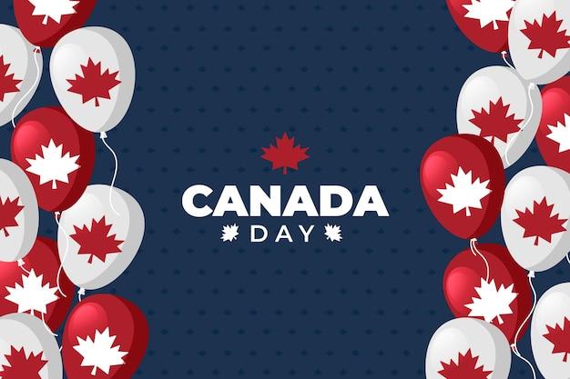 Diseño plano fondo del día de canadá
