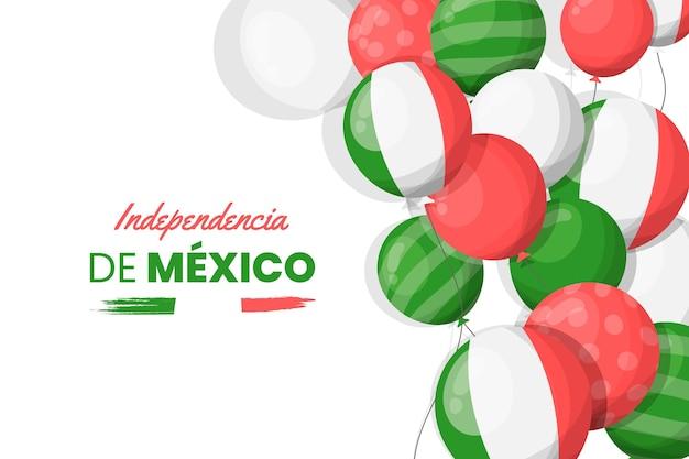 Diseño plano fondo del día de la independencia mexico
