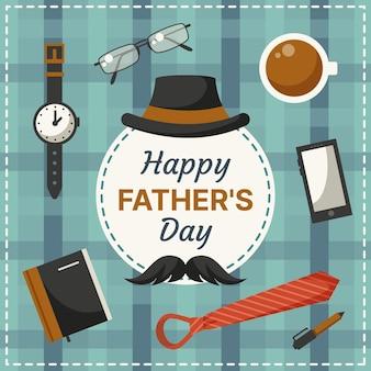 Diseño plano fondo del día del padre
