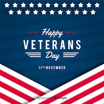 Diseño plano fondo del día de los veteranos