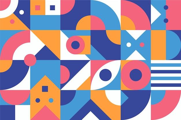 Diseño plano de fondo geométrico abstracto coloreado