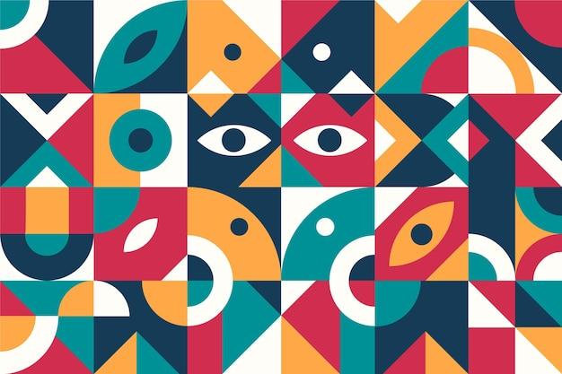 Diseño plano de fondo geométrico abstracto