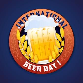 Diseño plano fondo internacional del día de la cerveza