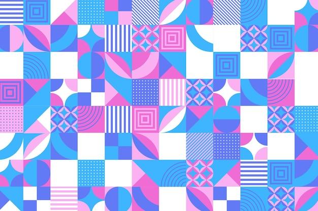Diseño plano de fondo de mosaico
