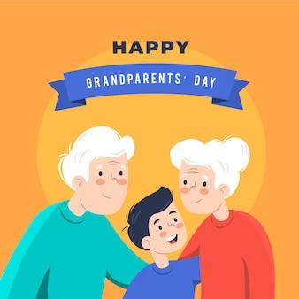 Diseño plano fondo nacional del día de los abuelos