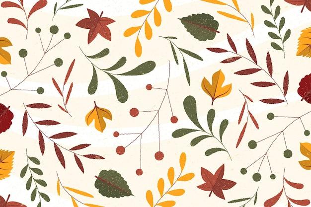 Diseño plano fondo de otoño
