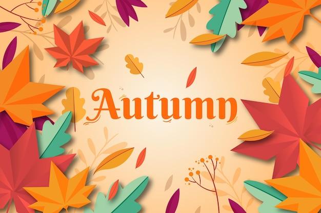 Diseño plano de fondo de otoño