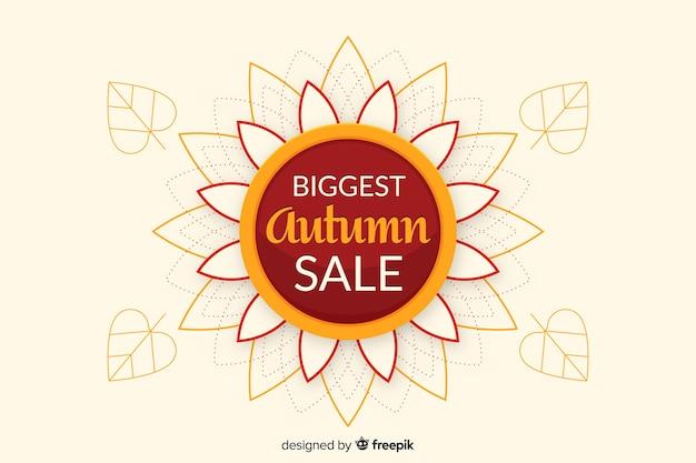 Diseño plano de fondo de ventas de otoño
