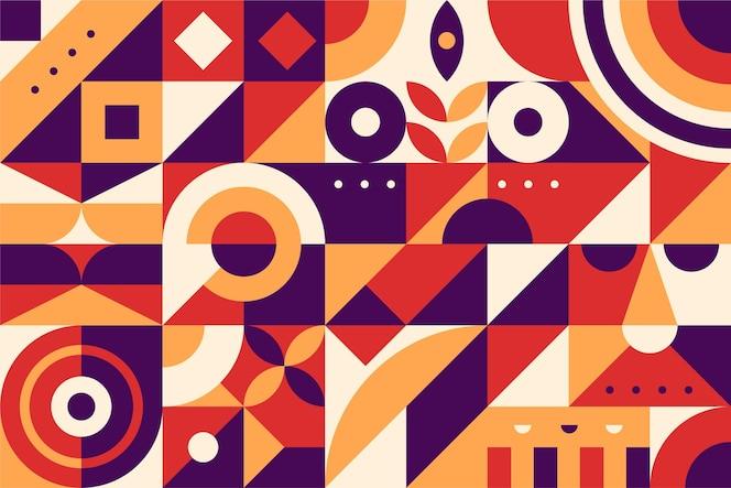 Diseño plano de formas geométricas abstractas
