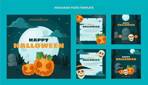 Diseño plano halloween ig post