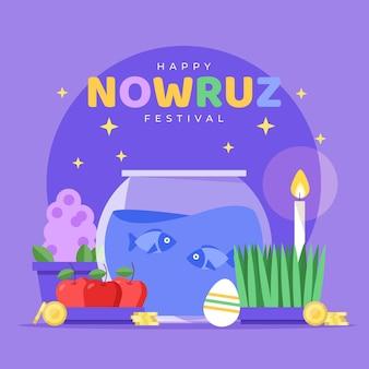 diseño plano happy nowruz