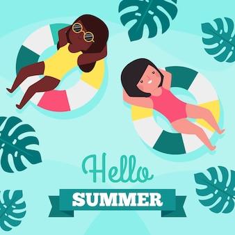 Diseño plano hola verano