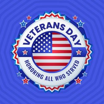 Diseño plano en honor al día de los veteranos.