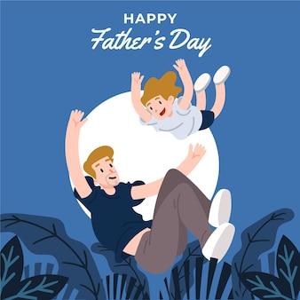 Diseño plano ilustrado estilo del día del padre