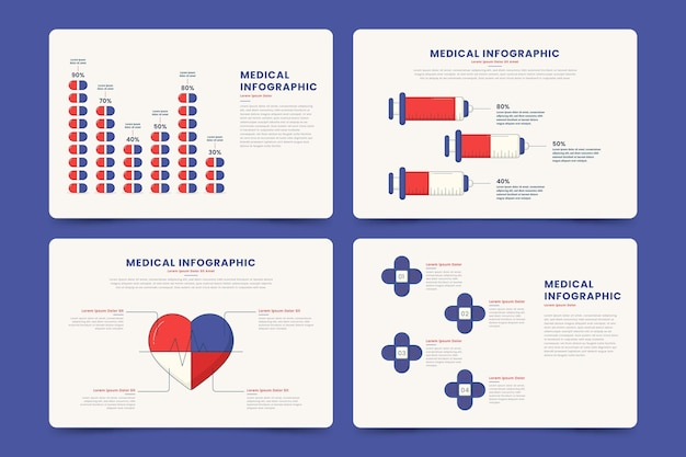 Diseño plano de infografías médicas