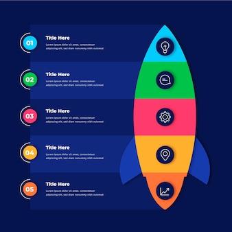 Diseño plano inicio infografía