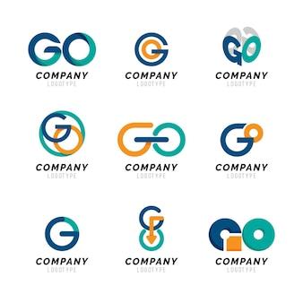 Diseño plano ir plantilla de logotipo