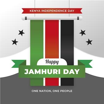 Diseño plano jamhuri day con estrellas.