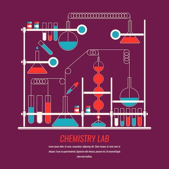 Diseño plano de laboratorio de ciencias