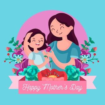 Diseño plano madre con hijo