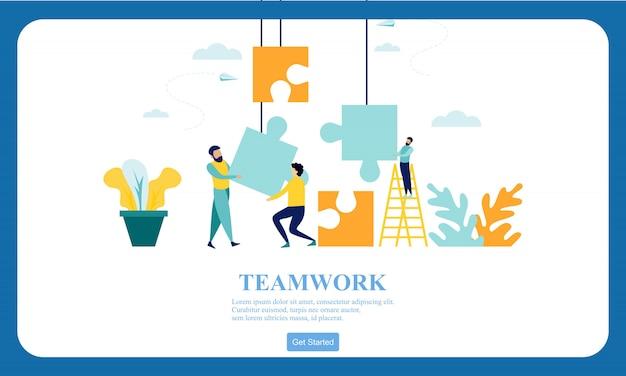 Diseño plano manos de negocios trabajo en equipo.