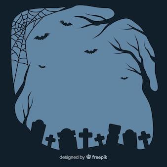 Diseño plano de marco de halloween