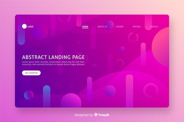 Diseño plano monocromático abstracto de la página de aterrizaje