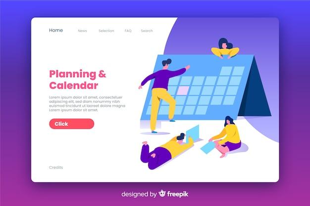 Diseño plano de página de destino de negocios