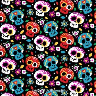 Diseño plano patrón día de muertos