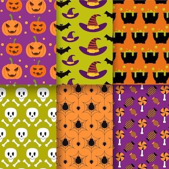 Diseño plano patrón de halloween