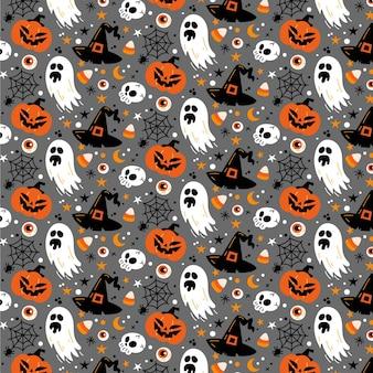 Diseño plano de patrón de halloween
