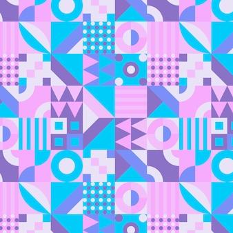 Diseño plano de patrón de mosaico