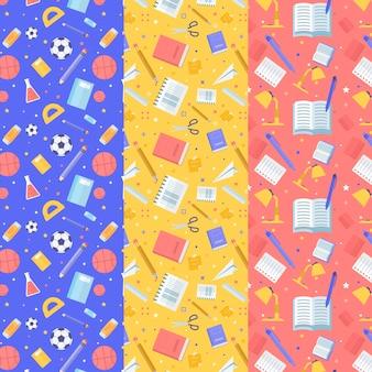 Diseño plano patrones de regreso a la escuela