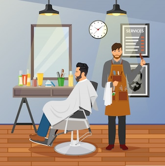 Diseño plano de peluqueria