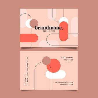 Diseño plano de plantilla de tarjetas de visita de formas abstractas