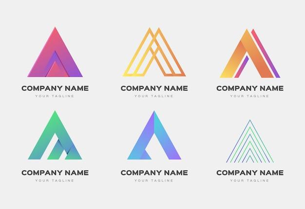 Diseño plano de plantillas de logotipo