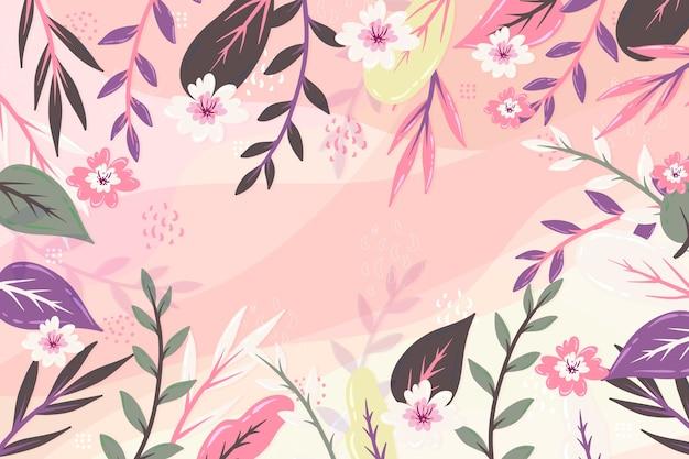 Diseño plano de protector de pantalla floral abstracto