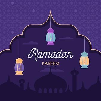 Diseño plano ramadán