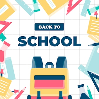 Diseño plano de regreso a la escuela.