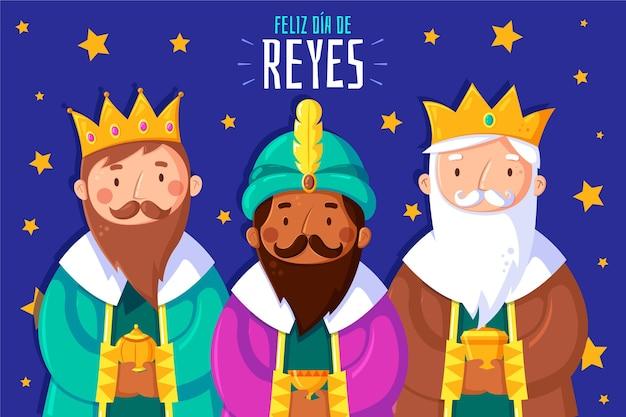 Diseño plano reyes magos day