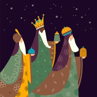 Diseño plano reyes magos