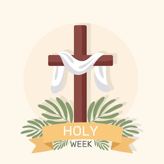 Diseño plano de semana santa
