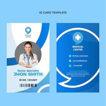 Diseño plano de tarjeta de identificación médica.