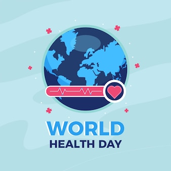Diseño plano tema del día mundial de salud