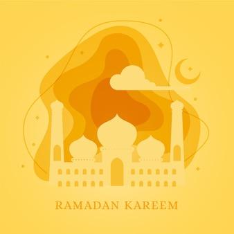 Diseño plano tema del evento de ramadán