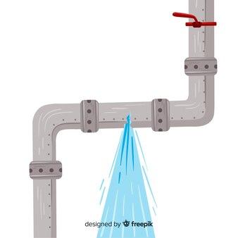 Diseño plano de tubería rota